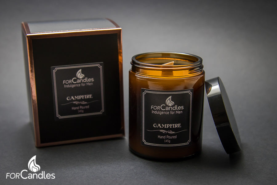 Mandle - ForCandles Campfire premium scented soy candle