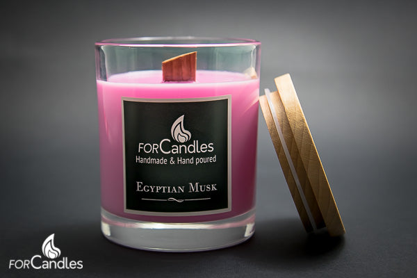 ForCandles Egyptian Musk premium scented soy candle