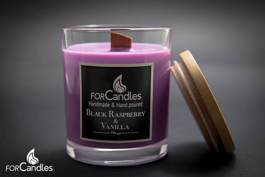 ForCandles Black Raspberry premium scented soy candle