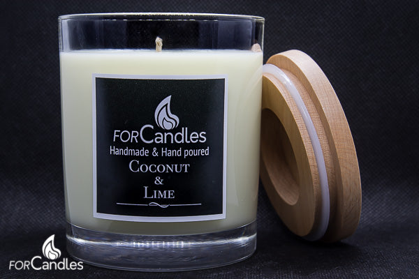 ForCandles Coconut & Lime premium scented soy candle