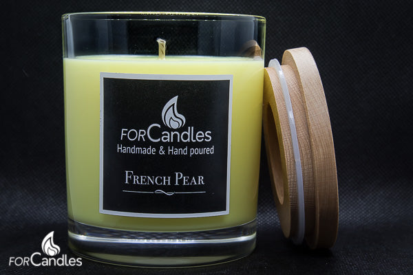 ForCandles French Pear premium scented soy candle