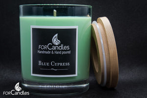 ForCandles Blue Cypress premium scented soy candle