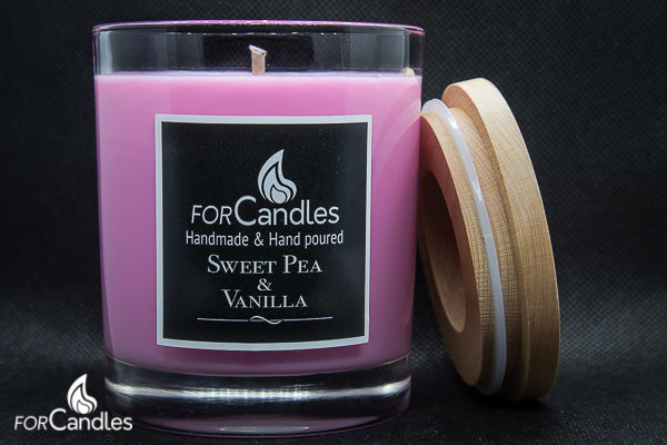 ForCandles Sweet Pea & Vanilla premium scented soy candle