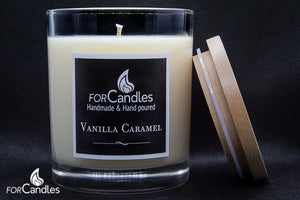 ForCandles Vanilla Caramel premium scented soy candle