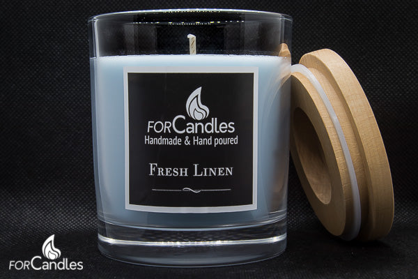 ForCandles Fresh Linen premium scented soy candle
