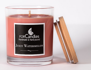 ForCandles premium handmade watermelon fragrance scented soy candle made in Brisbane Australia