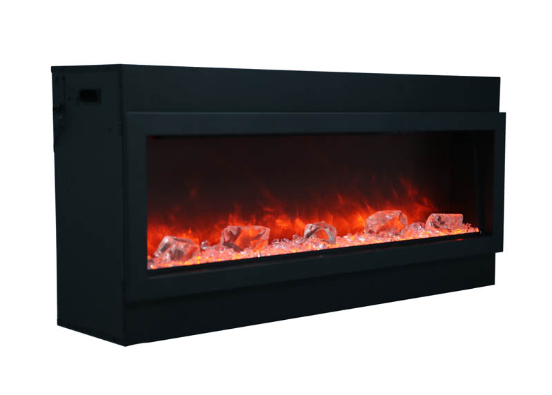 72 Slim Panorama Series Indoor-Outdoor Electric Fireplace Amantii