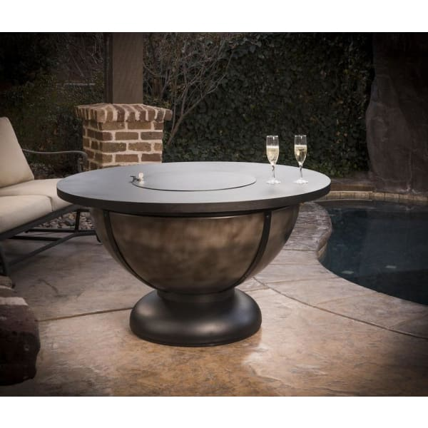 Cc Products Onyx Bowl 48 Round Gas Fire Pit Table C1045 - Fire Pit