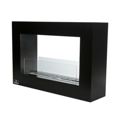 "Qube Large 42"" Free Standing Indoor/Outdoor Ethanol Fireplace Black Bio-Blaze"