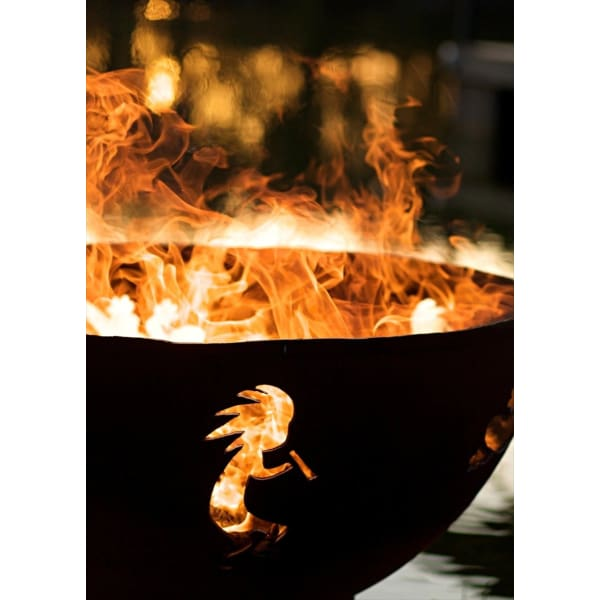 Fire Pit Art Kokopelli 36 Wood Burning Ko - Fire Pit