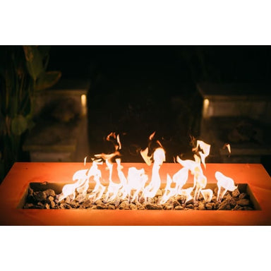 Fire Pit Art Linear 60 Handcrafted Carbon Steel Gas Fire Pit Linear60-Mls190 - Fireplace