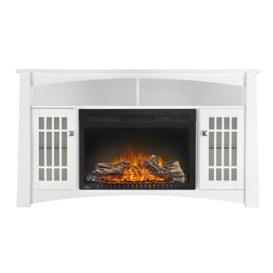 Napoleon Adele White Media Cabinet With Electric Fireplace Nefp27-0815W - Fireplace