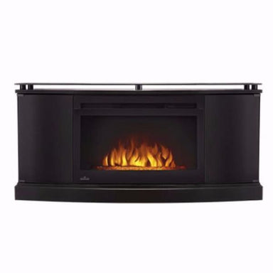 Napoleon Anya Black Media Cabinet With Electric Fireplace Nefp27-3116B - Fireplace