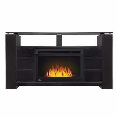 Napoleon Foley Black Mantel For 66 Tv With Electric Fireplace Nefp27-1015B - Fireplace