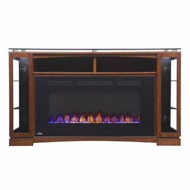 Napoleon Shelton Brown Mantel For 66 Tv With Electric Fireplace Nefp42-1715Bw - Fireplace