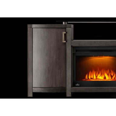 Napoleon Whitney Gray Mantel For 66 Tv With Electric Fireplace Nefp24-0516Grw - Fireplace