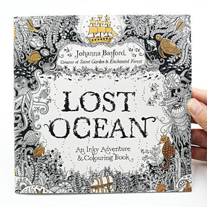 1 PCS 24 Pages Lost Ocean Inky Adventure Coloring Book For Children Adult Relieve Stress Kill