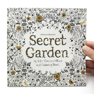 1 PCS 24 Pages Relieve Stress For Children Adult Painting Drawing Book Secret Garden English Edition