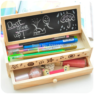 Multi-function Wooden Pencil Case