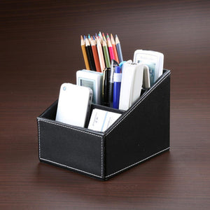 Leather Desk Organizer Holder ( 3 Compartment )