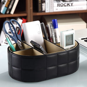 PU Leather Desk Organizer