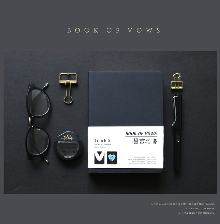 """Book of Vows"" - Thermal Induction Notebook"