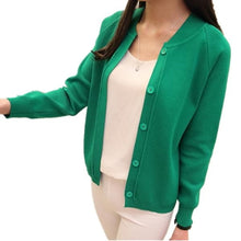 Women's Autumn Spring Button New Style Neck Knitted Coat Slim Sweater Cardigan