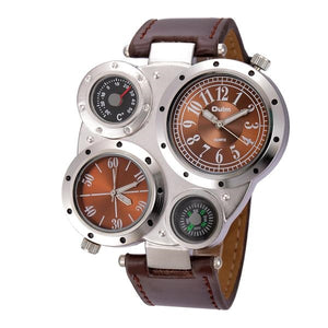 Men's Antique Top Brand Luxury Sport Quartz Wristwatch Casual Leather Strap relojes hombre