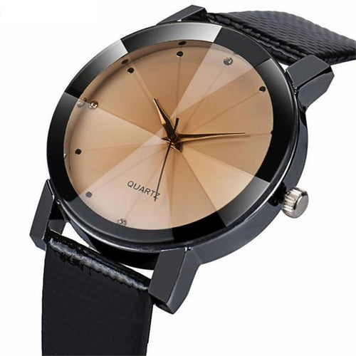 Unisex Luxury Brand Fashion Quartz Stainless Steel Dial Leather Band Wrist Watch Relogio Masculino