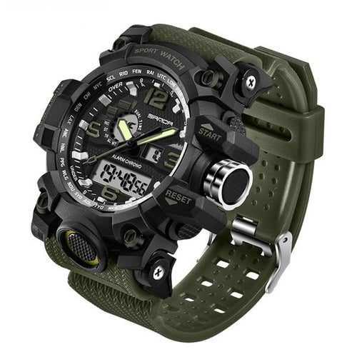 Men's Brand Luxury Waterproof Military Sport Quartz Watches Clock Relogio Masculino