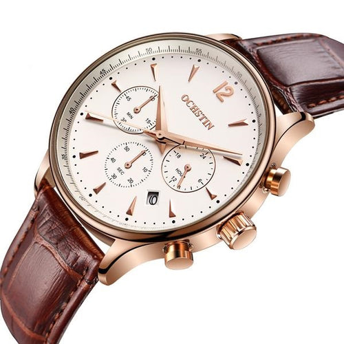 Men's Top Luxury Brand Sports -Leather Military Quartz  Wrist Watch