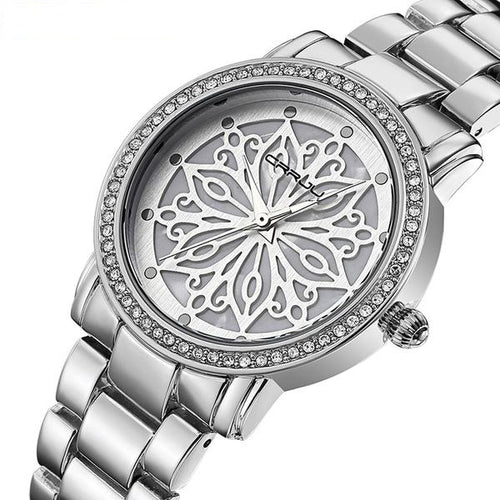 Women's Brand Luxury Steel Diamonds Silver Quartz Watch Relogio Feminino