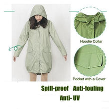 Women's Girl's Fashion Thin Portable Tour Trench Waterproof Clothes Ballon Style Outdoor Rain Jacket