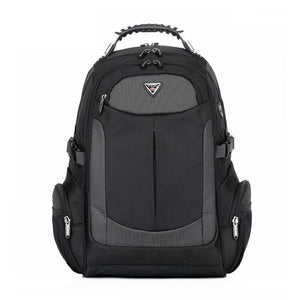 Men's Brand Laptop Travel Multifunction Rucksack Waterproof Oxford Black Backpack