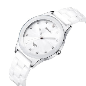 Women's Luxury Water Resistant Easy Read Sports Ceramic Wristwatch