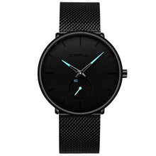 Men's Top Brand Luxury Quartz Casual Slim Mesh Steel Waterproof Sport Watch Relogio Masculino
