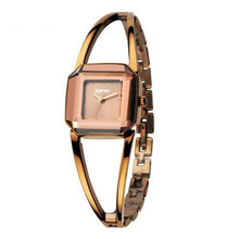 Women's Fashion Luxury Brand Square Skeleton Bracelet Rose Gold Quartz Wristwatches