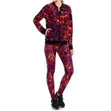 Women's Sweatshirt Fitness New Autumn & Winter Red Leopard Hoddies Zipper Sexy Coat