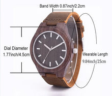 Men's Sandalwood Watch Leather Quartz Top Luxury Brand High Quality Wooden Watches