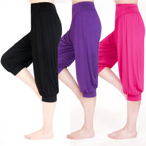 Women's Plus Size Colorful Bloomers Dance Yoga TaiChi Full Length leggings