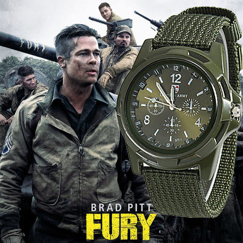 Men's New Men Military Army Bomber Pilot Canvas Strap Sports Quartz Wristwatch