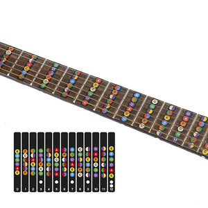 Guitar Fretboard Notes Map Labels Sticker Fingerboard Fret Decals for 6 String Acoustic Electric Guitarra