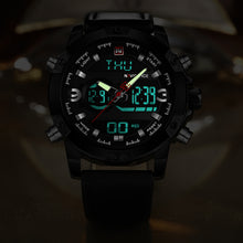 Luxury Brand Analog Digital Leather Sports Watches - Army Military Watch Man Quartz Clock Relogio Masculino