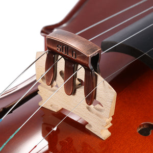 Violin Viola Practice Metal Mute Fiddle Silencer 3 Prong High Quality Violin Parts & Accessories