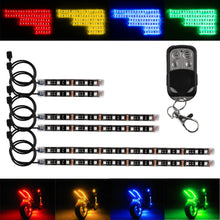 Motorcycle LED Glow Lights Neon Strip 6 Pieces