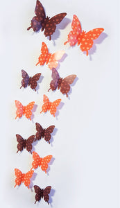 Wonderful Art Butterfly Design Wall Stickers (12 Pieces)