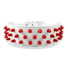 "Pet's Dog 5 Colors PU Leather Spiked Studded Collar 2"" Wide Adjustable For Pit Bull,Boxer M L XL"