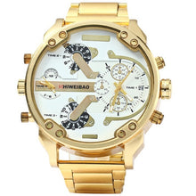 Men's Fashion Gold Brand Metal Dial Military Sport  Kids Compass Thermometer Decoration Wristwatch