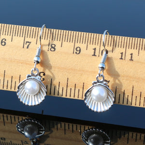 Women's Simulated Pearls Shell Dangle Fashion Jewelry Brincos Pendientes Drop Earrings