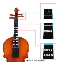 4/4 3/4 1/2 1/4 1/8 Violin Fiddle Finger Guide Fingerboard Sticker Label Intonation Chart Fretboard Marker for Practice Beginner